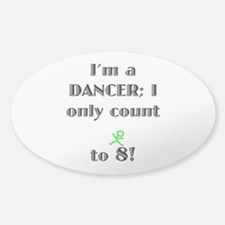 Only Count To 8 Sticker (Oval)