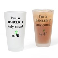 Only Count To 8 Drinking Glass