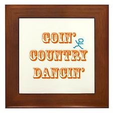 Country Dancin Framed Tile