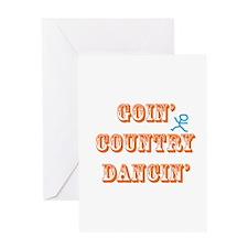 Country Dancin Greeting Card