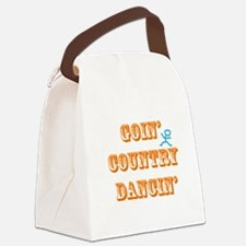 Country Dancin Canvas Lunch Bag