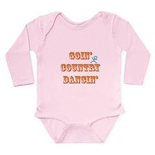 Country Dancin Long Sleeve Infant Bodysuit