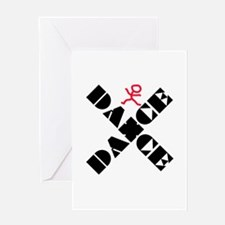 Dance Marks The Spot Greeting Card