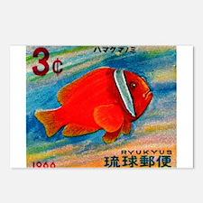 Ryukyu Islands 1966 Clownfish Postage Stamp Postca