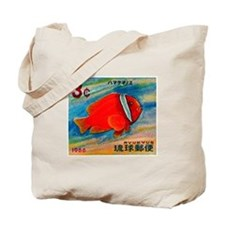 Ryukyu Islands 1966 Clownfish Postage Stamp Tote B
