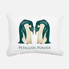 Penguins Rectangular Canvas Pillow