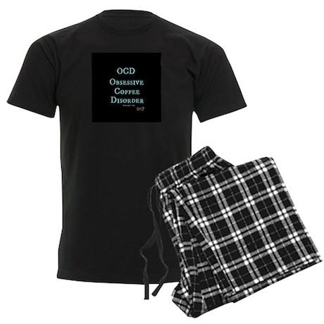 OCD: Obsessive Coffee Disorder Men's Dark Pajamas