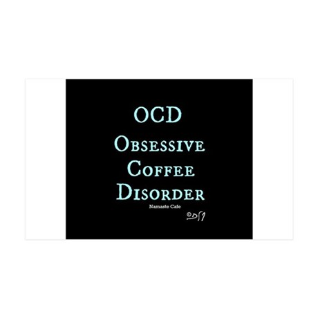 OCD: Obsessive Coffee Disorder 35x21 Wall Decal