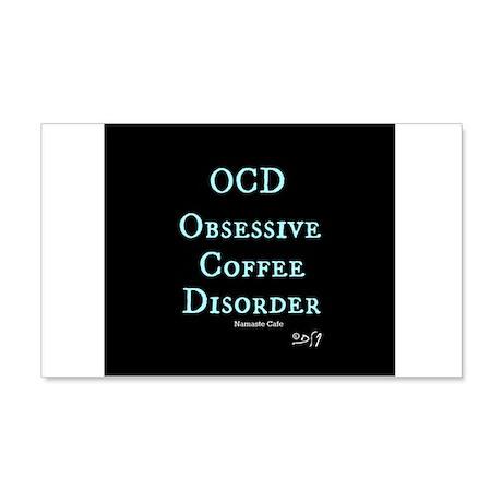 OCD: Obsessive Coffee Disorder 20x12 Wall Decal