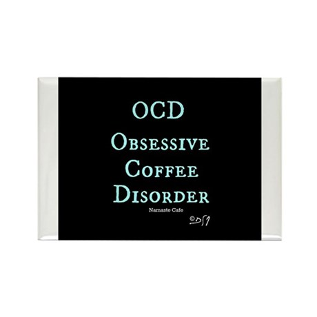 OCD: Obsessive Coffee Disorder Rectangle Magnet (1