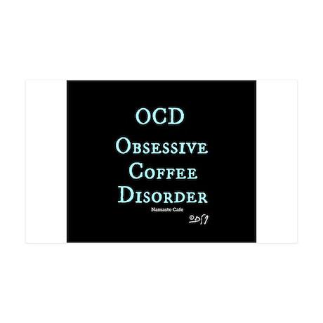 OCD: Obsessive Coffee Disorder 35x21 Wall Decal