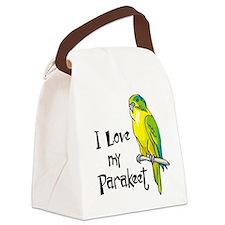 I Love my Parakeet Canvas Lunch Bag