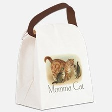 Momma Cat Canvas Lunch Bag