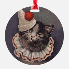 Clown Cat Ornament