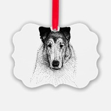 Smooth Collie Head Ornament