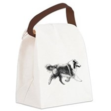 Rough Running Collie Canvas Lunch Bag