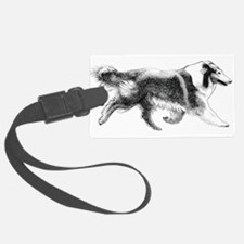 Rough Running Collie Luggage Tag