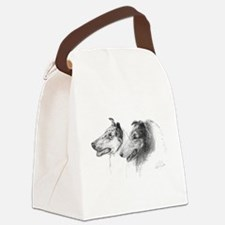 Rough and Smooth Collie Canvas Lunch Bag
