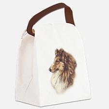 Vintage Collie Canvas Lunch Bag