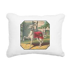 Greyhound Rectangular Canvas Pillow