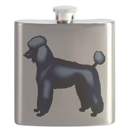 Black Poodle Flask