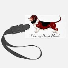 I Love my Basset Hound Luggage Tag