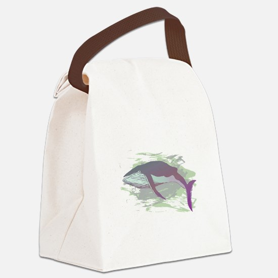 Whale Canvas Lunch Bag