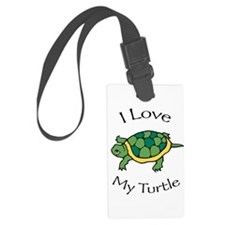 I Love My Turtle Luggage Tag