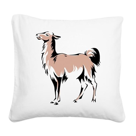 Llama Square Canvas Pillow