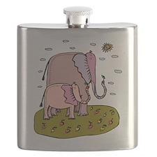 Mama and Baby Elephant Flask