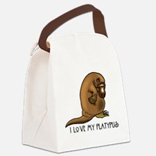I Love my Platypus Canvas Lunch Bag