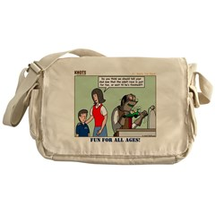 Car Race Messenger Bag