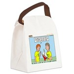 Small Boat Sailing Canvas Lunch Bag