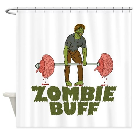 Zombie Buff Shower Curtain By HaHaHolidays