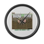 Coin Collecting Large Wall Clock