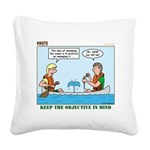 Canoeing Square Canvas Pillow