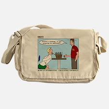 Basket Weaving Messenger Bag