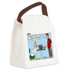 Basket Weaving Canvas Lunch Bag
