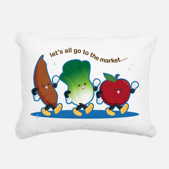 Let's Go to the Market! Rectangular Canvas Pillow
