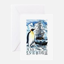 1989 Sweden Emperor Penguins Postage Stamp Greetin
