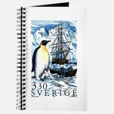 1989 Sweden Emperor Penguins Postage Stamp Journal