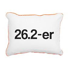 26.2-er or Marathoner Rectangular Canvas Pillow
