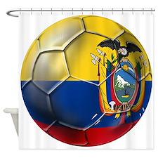 Ecuador Soccer Ball Shower Curtain