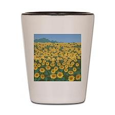 Field Of Sunflower Shot Glass