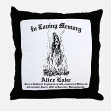 Alice Memorial 1 Throw Pillow