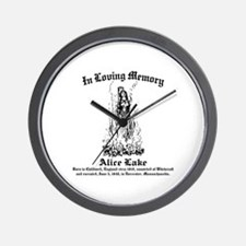 Alice Memorial 1 Wall Clock