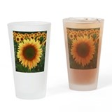 Sunflower Pint Glasses