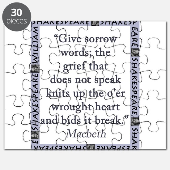 Give Sorrow Words Puzzle