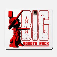 Big Robots Rock Mousepad