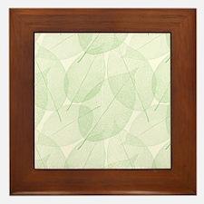 Leaves Framed Tile